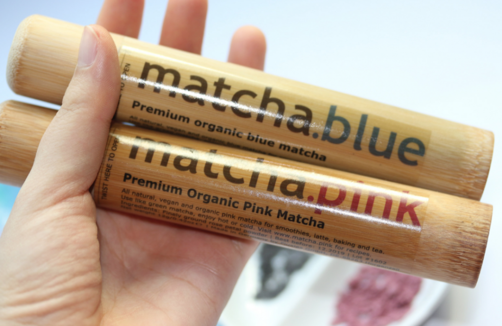 Matcha.Blue and Matcha.Pink : Natural Blue and Pink Food Colourings