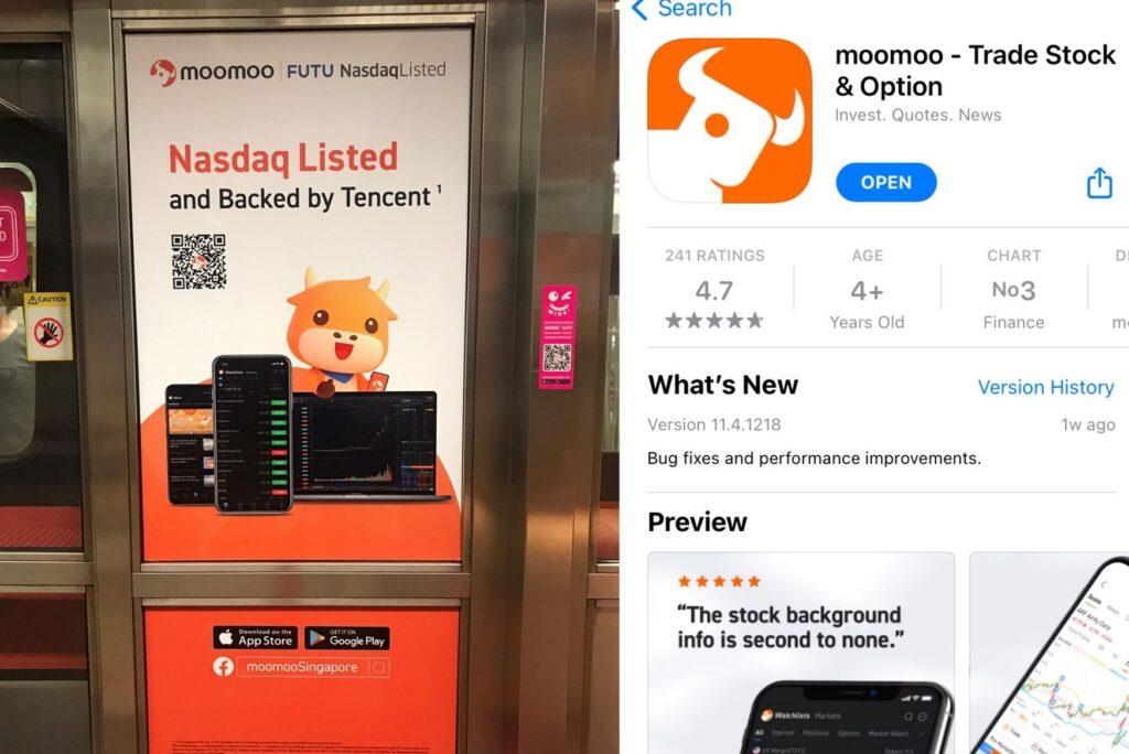 Moomoo app Singapore Futu Holdings Trading Platform Brokerage
