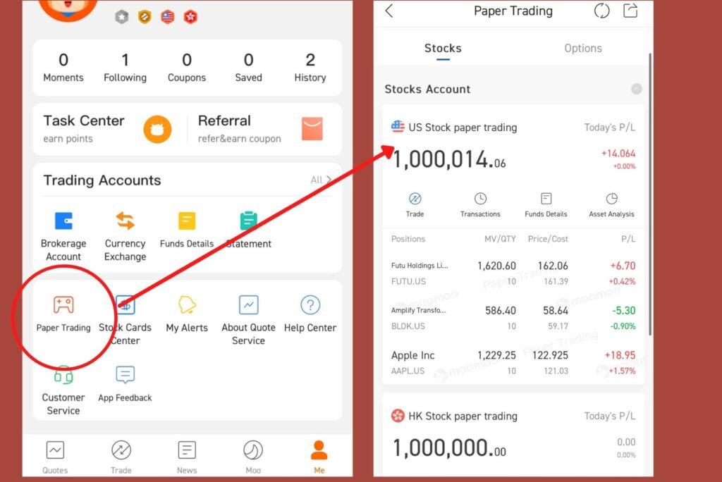 Paper Trading Singapore Futu Holdings Platform Brokerage