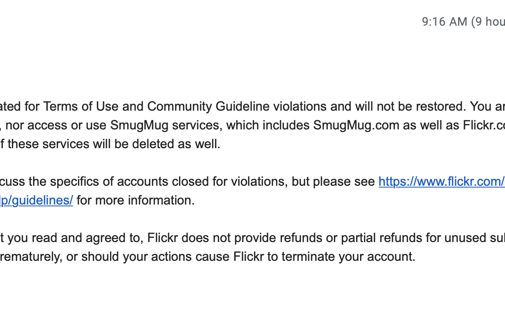 Email from Flickr