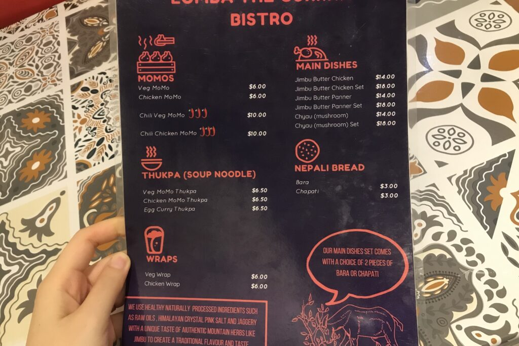 LOMBA The Gurkha Bistro Nepalese food in Singapore