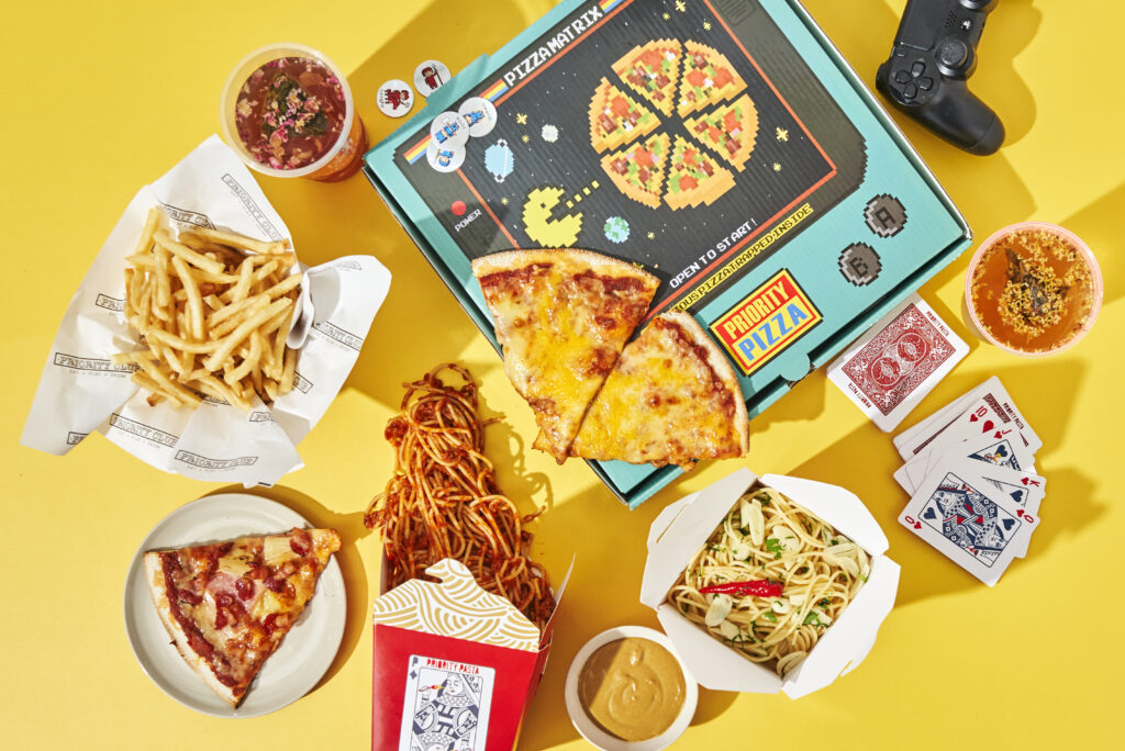 The Priority Club Pizza Delivery Service Singapore Pastas Games bundle Salmon Mentaiko Stack
