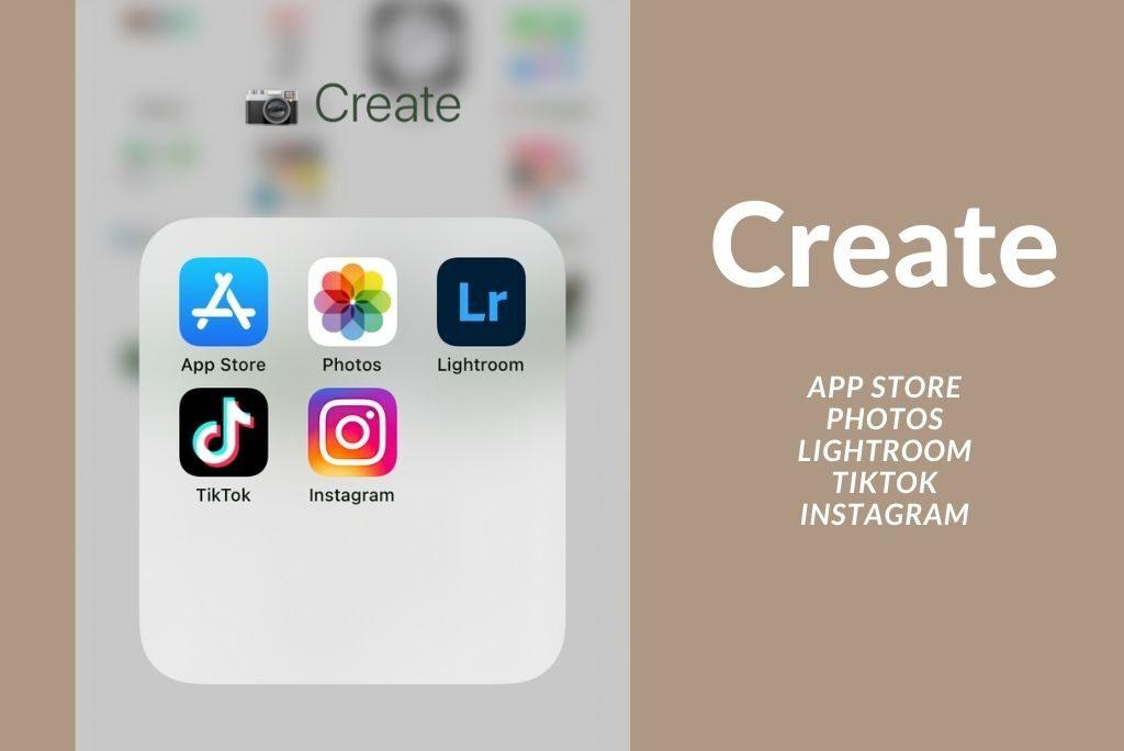 iPhone app folders minimalist