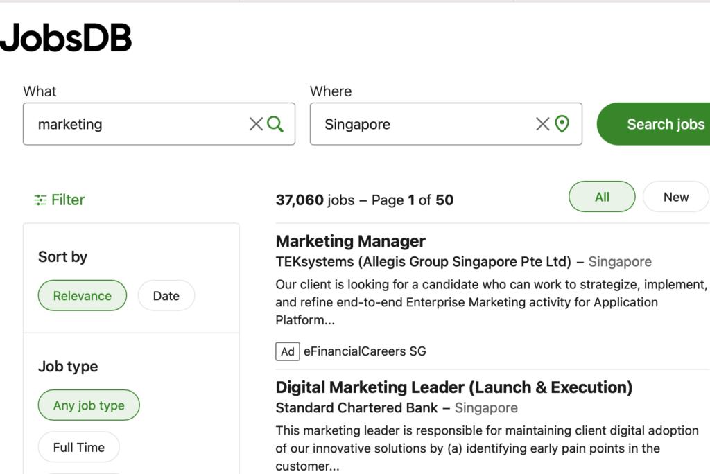 job search website jobsDB
