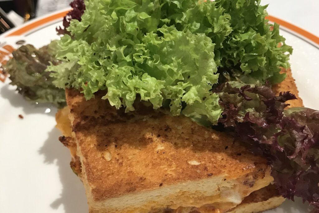 Bacha Coffee 1910 Marrakech Singapore ION Orchard Coffee Room French Sandwich toast