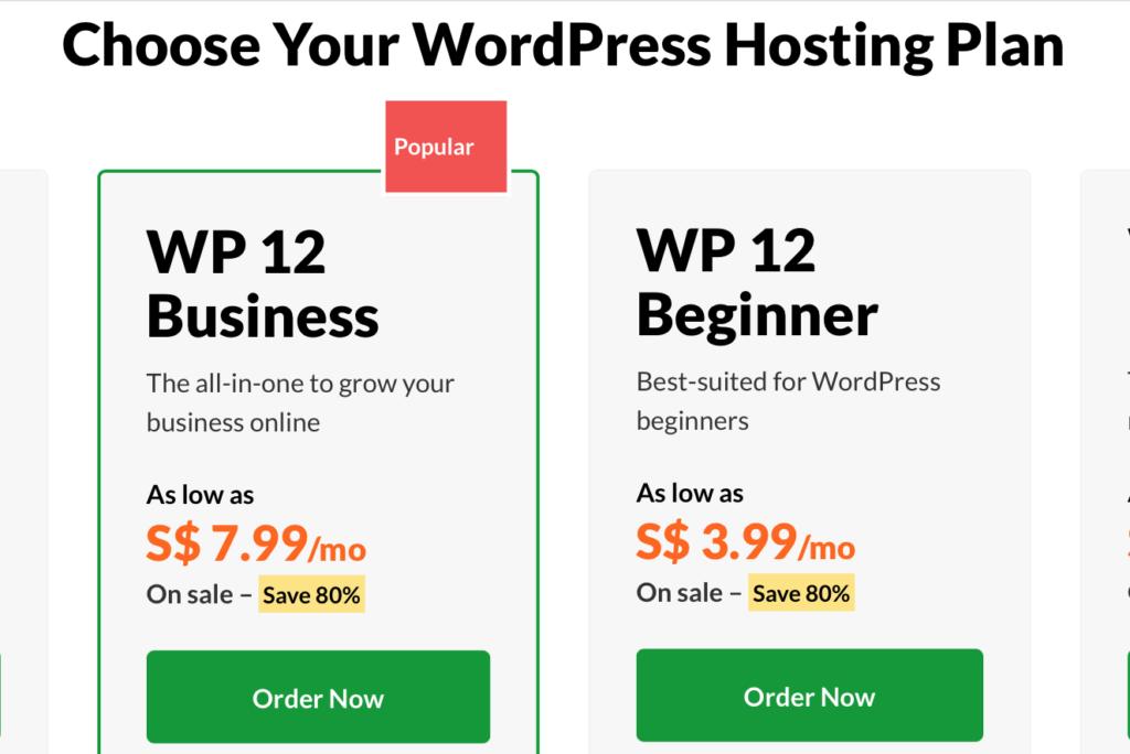 Exabytes WordPress Hosting Plans