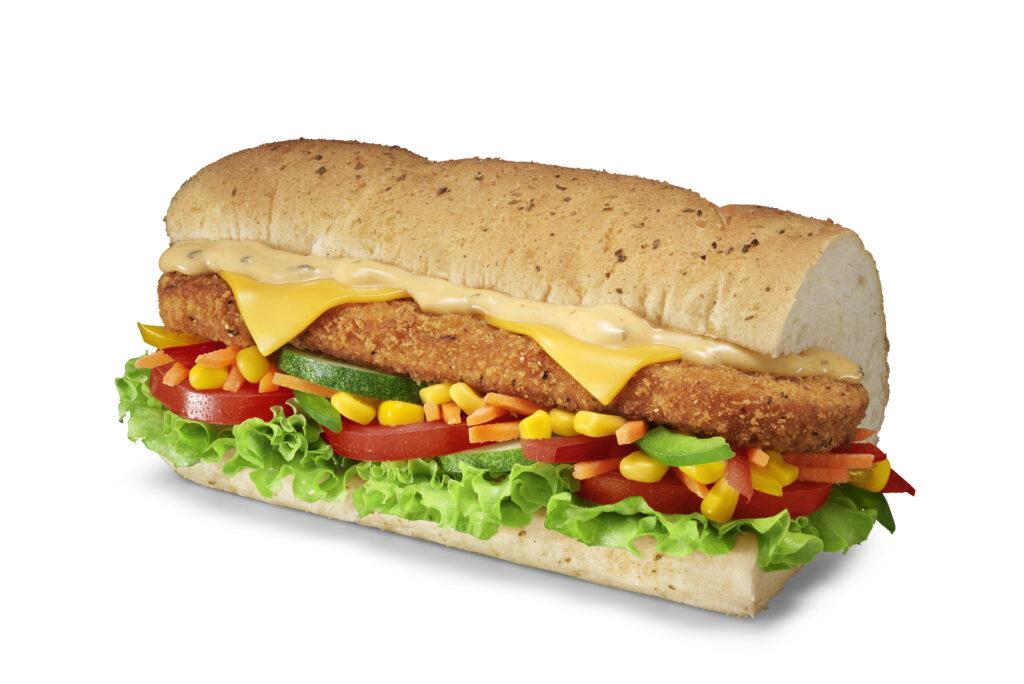 Subway Singapore Seafood Patty sub sandwich