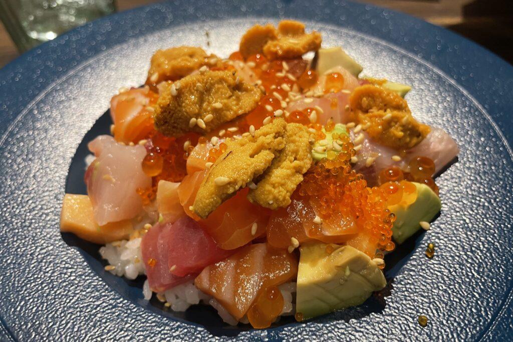 Uni Gallery Sea Urchin roe set lunch promotion Chirashi Don