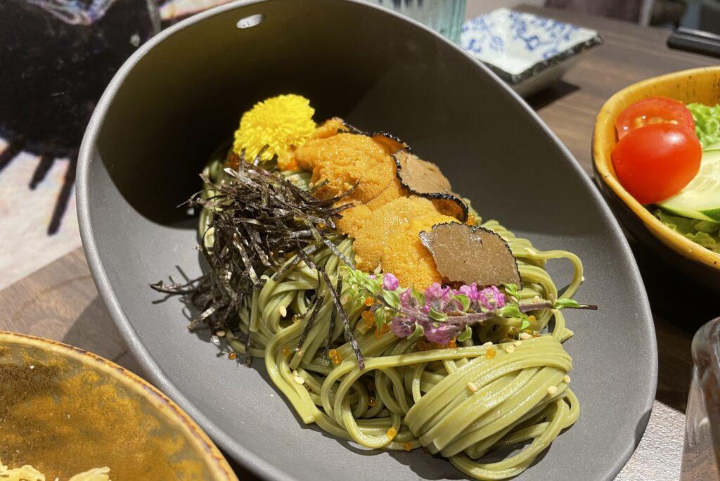 Uni Gallery Sea Urchin roe set lunch promotion Soba